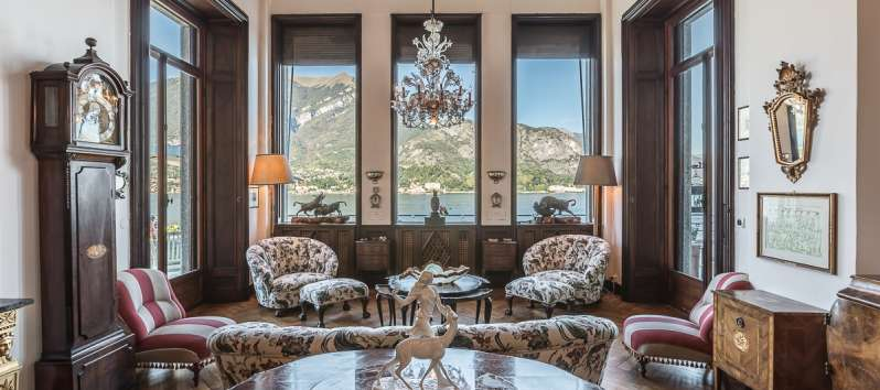 living room of the villa in Bellagio